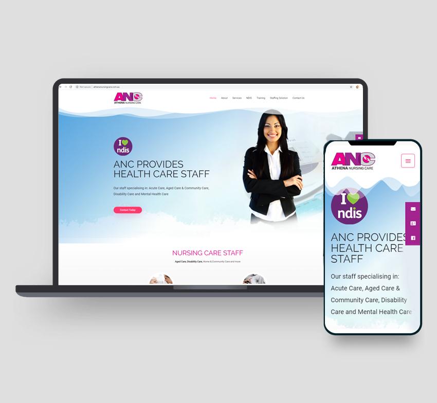 Athena Nursing Care website